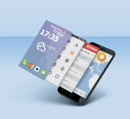 touch screen interface: Vector smartphone icon