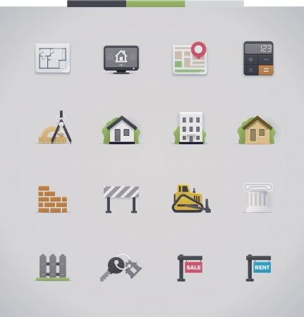 Architecture icon set Stock Vector - 22648555