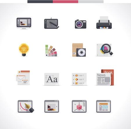 gráfico: Ícone de design gráfico conjunto Ilustração