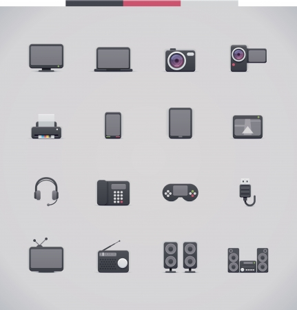 Electronics icon set  Vector