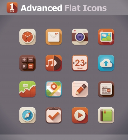 application icon: Vector icons Illustration
