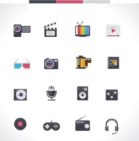 Vector multimedia icon set Vector