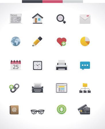 develop: Vector web page icon set