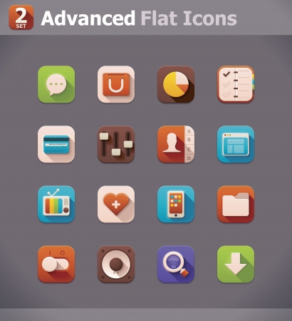 contacting: Vector icons Illustration