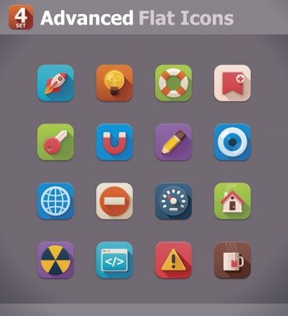 pictogram attention: Vector icons Illustration