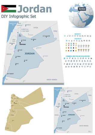 jordanian: Jordan kaarten met stiften