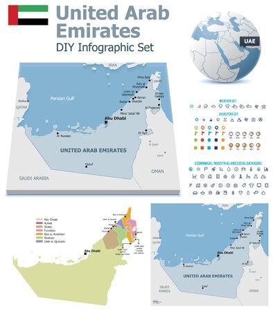 emirates: United Arab Emirates maps with markers