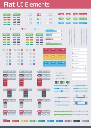 adjusting: Flat UI elements Illustration