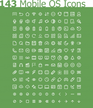Operating system icon set Stock Vector - 24166082