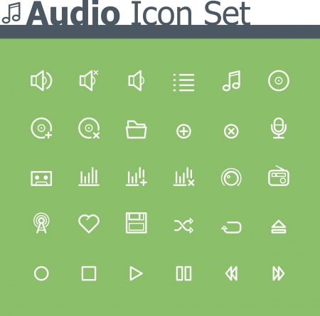 Audio icon set Stock Vector - 24174508