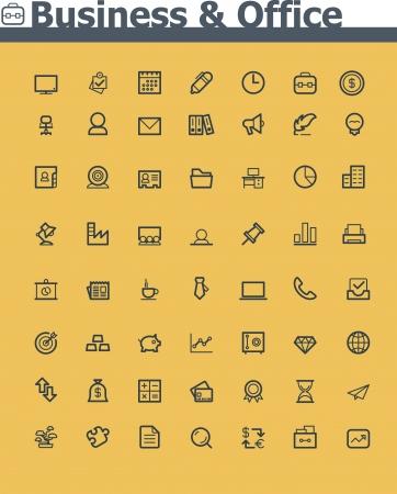 minimal: Negocios y el icono de oficina Vectores