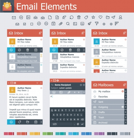 operating system: Email elements