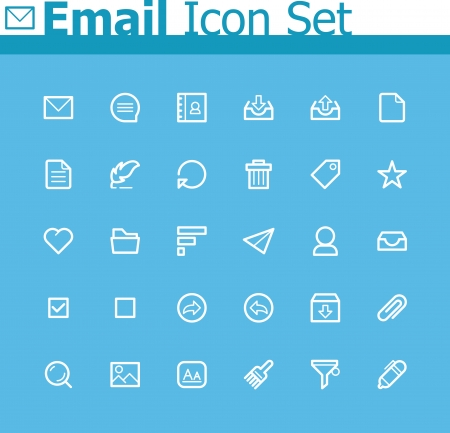 Email icon set Stock Vector - 24174539