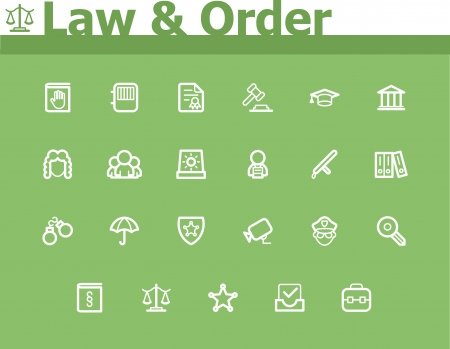 Law and Order icon set Stock Vector - 24174546