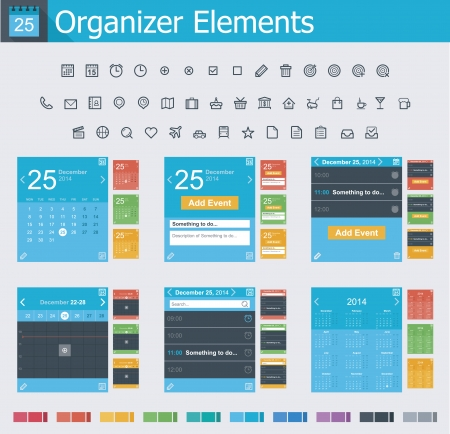 Organizer elements Vector