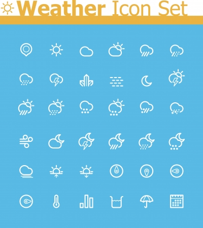 Weather icon set Stock Vector - 24174541