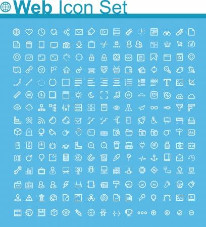 conjunto: Página Web icon set Vectores