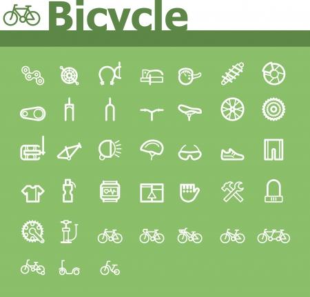 bike parts: Bicycle icon set