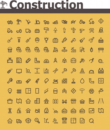 industrial industry: Construction icon set