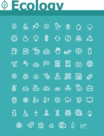 fossil fuel: Ecology icon set