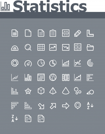 statistical: Statistic elements icon set
