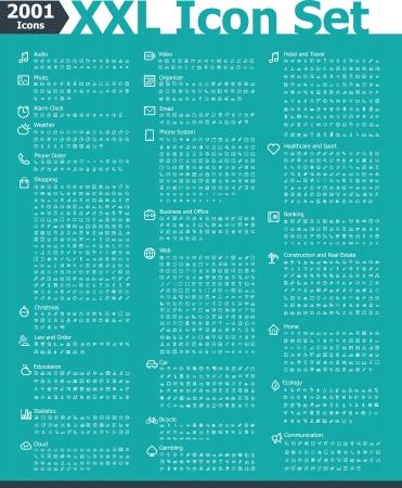 health healthcare: 2001 conjunto de iconos