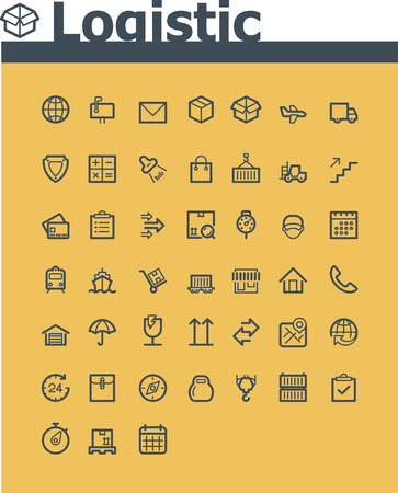 package icon: Logistic icon set
