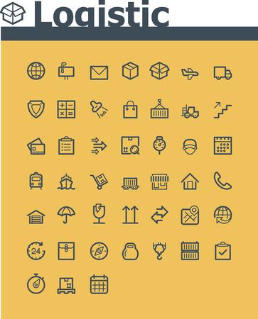 Logistique icône ensemble Banque d'images - 26572671