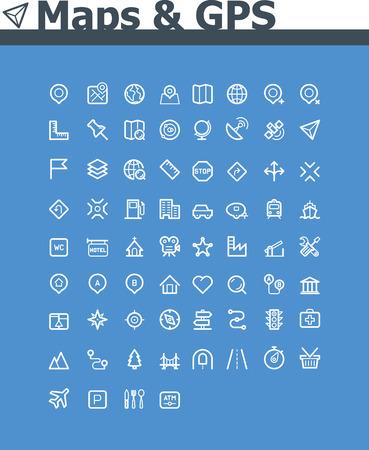 poi: Maps and navigation icon set