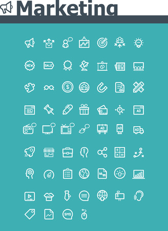 Marketing icon set Illustration