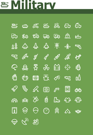 Military icon set Vector