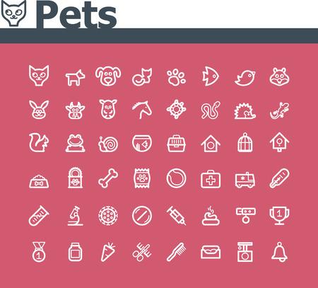 lagarto: Mascotas icon set Vectores