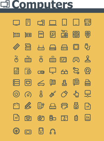 Computer icon set Stock Vector - 26572685