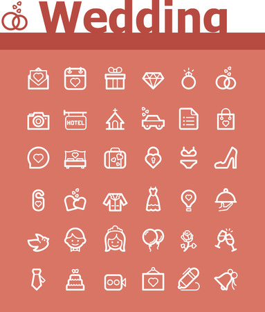 wedlock: Wedding icon set