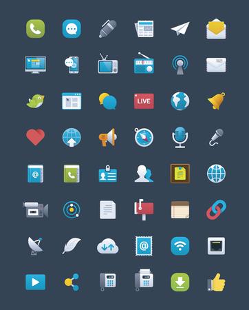 wireless communication: Communication icon set