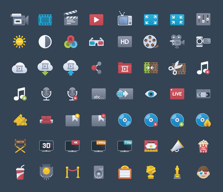 blu: Video icon set