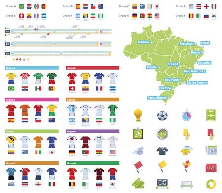 Soccer championship infographic elements  Vector