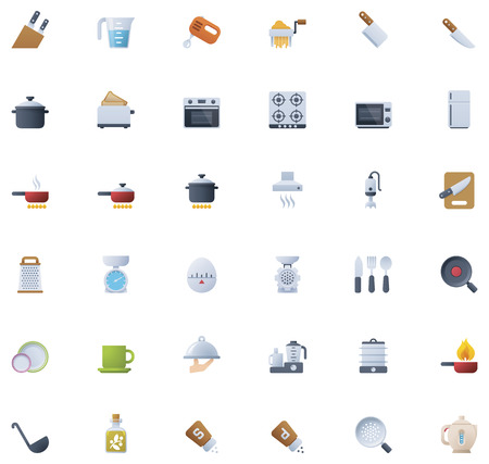 food processor: Cooking icon set
