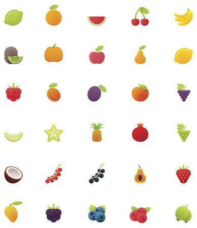 pine apple: Fruits icon set