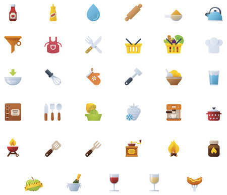 bailer: Cooking icon set