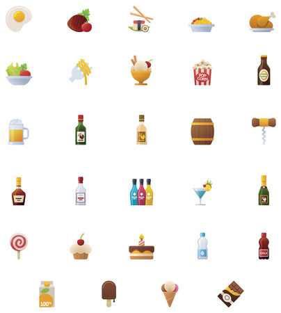 cognac: Food and drinks icon set