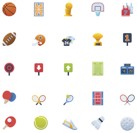 individual sport: Sport icon set