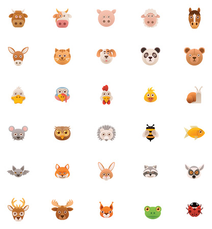 Animals icon set   Vector
