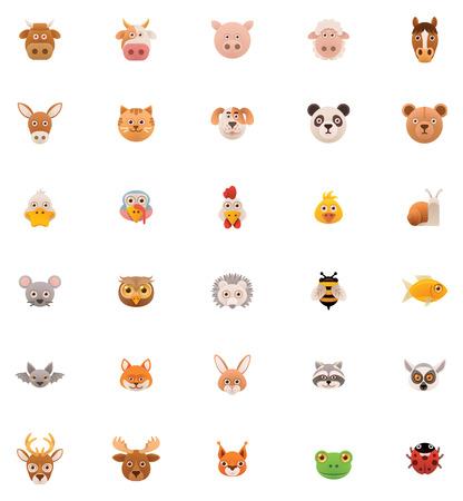 Animals icon set   Vector