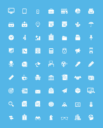 Simple business and office  icon set