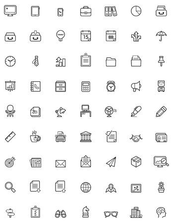 ceruzák: Egyszerű üzleti és irodai icon set Illusztráció