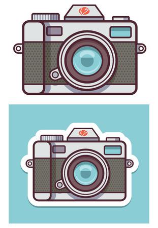 벡터 사진 카메라 아이콘 일러스트