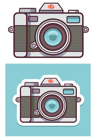 photo camera: Vector photo camera icon