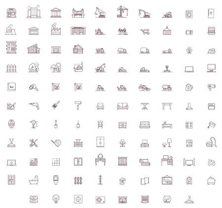 Set van de woning gerelateerde pictogrammen