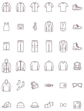 Set van de mannen kleding Stock Illustratie
